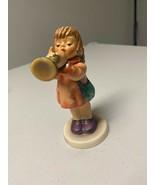 """Little Gabriel"" Goebel Hummel Angel Figurine With Horn #32 TMK3 BIRTHDA... - $45.82"