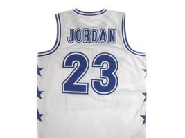 Michael Jordan #23 McDonald's All American Basketball Jersey White Any Size image 5