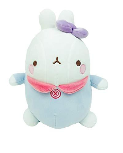 "Molang Soft Mochi Fluffy Bebe Stuffed Animal Rabbit Plush Toy 9.8"" (Blue)"