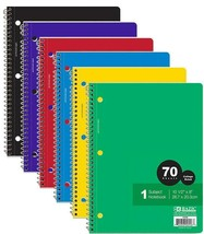 C/R 70 Ct. 1-Subject Spiral Notebook, 1-ct. - $2.50