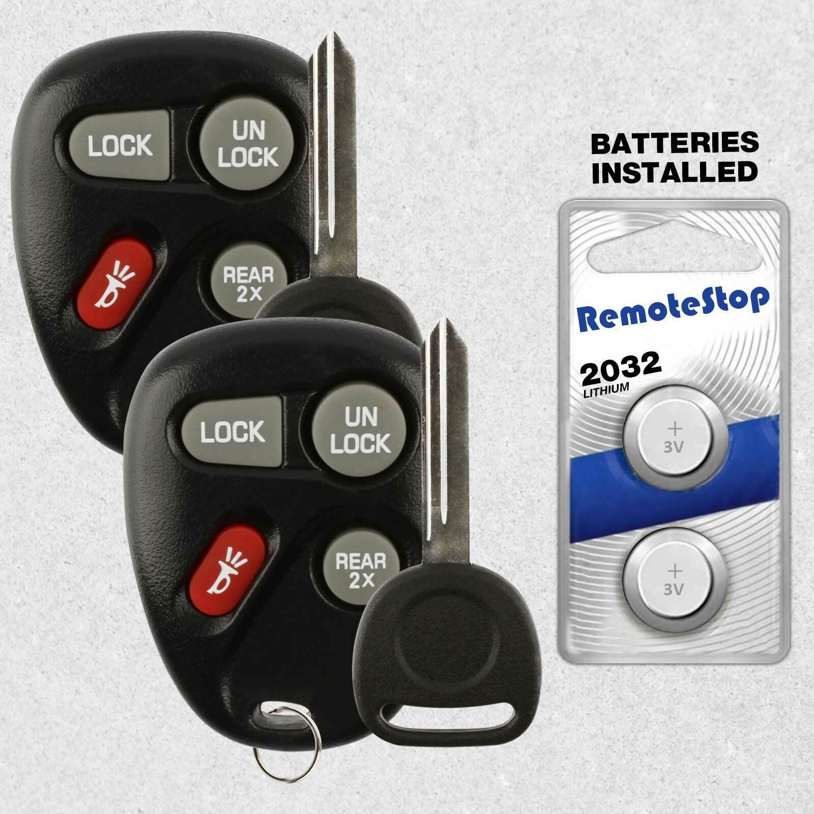 Primary image for 2 For 02 2003 2004 2005 Chevrolet Astro Blazer GMC Jimmy Safari Remote Fob + Key