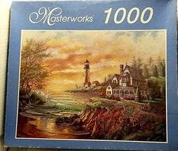 RoseArt Masterworks 1000 Piece Jigsaw Puzzle Dancing Lights by Seaside - $5.45