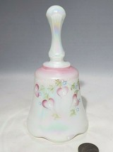 VTG Fenton Hand Painted Bell Hearts Opalescent Iridescent Signed Diane G... - $18.95