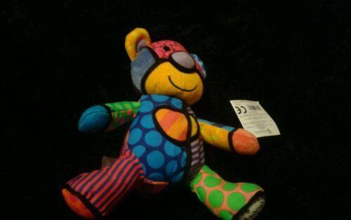 Romero Britto Pop Plush Tallulah The Teddy Bear Enesco Mini NWT image 4