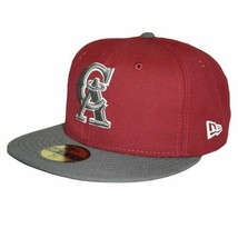 New Era MLB California Angels Custom 2 Tone  Burgundy Size Cap 59fifty N... - $29.99