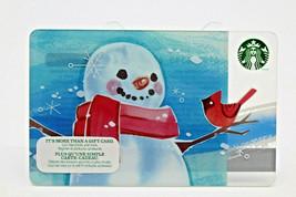 Starbucks Coffee 2014 Gift Card Snowman Red Bird Christmas Holiday Zero ... - $11.60