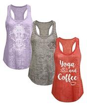 Tough Cookie's Women's Burnout Elephant Lotus Small Yoga Coffee Tank Top... - $39.70