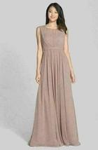 JENNY YOO Vivienne' Pleated Chiffon Gown Sz 8 - Mrsp $280 - $106.25
