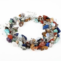 ZMZY Brand Women Charm Bracelet Unique Small Natural Stones Turquoises B... - $10.38