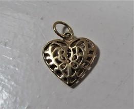 Vintage Unoaerre Italy 14K Gold 17mm Italian Heart Pendant - $69.29