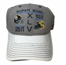 Reebok Pittsburgh Steelers Green Bay Packers Hat Adult Super Bowl XLV 2012 Texas - $21.58