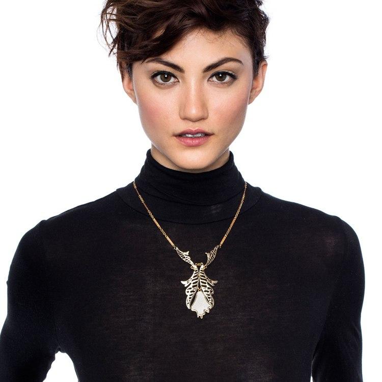 Jewelry unique gold color necklace pendant perfume women bijoux special store 2