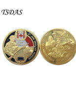 New Year Gifts UK ARMY Infantry Div. Coin 24K Gold Plated Coin Souvenir ... - $123,00 MXN