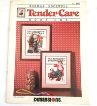 Norman Rockwell's Tender Care Counted Cross Stitch Charts Dimensions #101 - $5.48