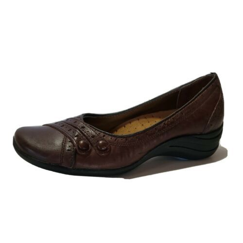 Womens Hush Puppies Burlesque Slip On Shoes Size US 6.5 M Brown Cute - $32.13