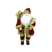 """Northlight 24"""" Grand Imperial Red Green Gold Santa Christmas Figure Gift... - $58.15"""