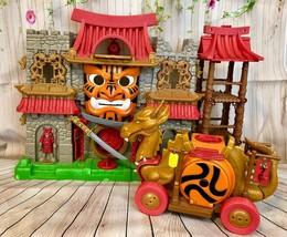 Fisher Price Imaginext Samurai Warrior Castle And Dragon Wagon Lot - $33.66