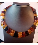 Genuine Baltic Amber Necklace New with Tags Bangle RRP : $170.00   - $68.34