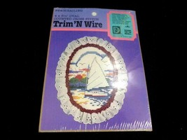 Designs For The Needle Sailing Trim 'N Wire Counted Cross Stitch Kit 840... - $12.86