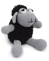 Black Sheep Handmade Amigurumi Stuffed Toy Knit Crochet Doll VAC - $35.64
