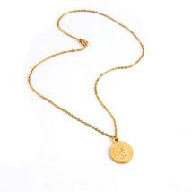 Women Coin Choker Necklace Gold Color Pound Elizabeth II, Euro 10 Cent C... - $10.11