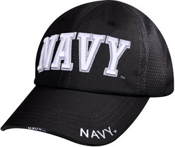 Black US Navy Ball Cap Adjustable Tactical USN Military Hat Summer Mesh - $16.99