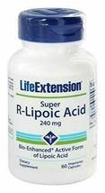 Life Extension, SUPER R-LIPOIC ACID - 60 VEGETARIAN CAPSULES, 240 mg - $36.75