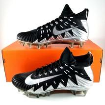 Nike Alpha Menace Elite PF Football Cleats Mens Size 11 Black Silver $200 - $37.39