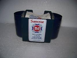 Vintage Samovar Vodka bar top napkins holder with Samovar advertising na... - $18.37