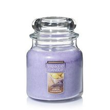 Yankee Candle Lemon Lavender 14.5 Ounce Single Wick MEDIUM Scented Candle - $25.00