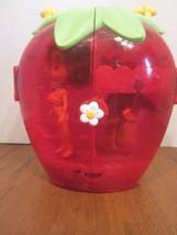 Bandai 2003 Strawberry Shortcake Doll Storage Dresser Case w/ Hangers & ... - $16.48