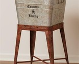 COUNTRY LIVING new large metal tub on wheels
