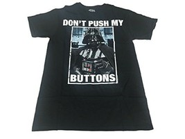 Star Wars Darth Vader Don't Push My Buttons Men's M Charcoal Gray T-Shir... - $10.75