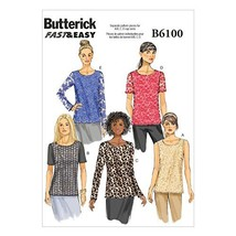 Butterick Patterns B6100 Misses' Top, Size B5 - $14.70