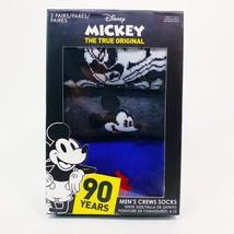 Disney Mickey Mens Crew Socks 3 Pairs Size 6-12 New In Box image 2