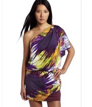 Jessica Simpson  Purple Abstract One Shoulder Party Cocktail Dress Size XS - $18.80