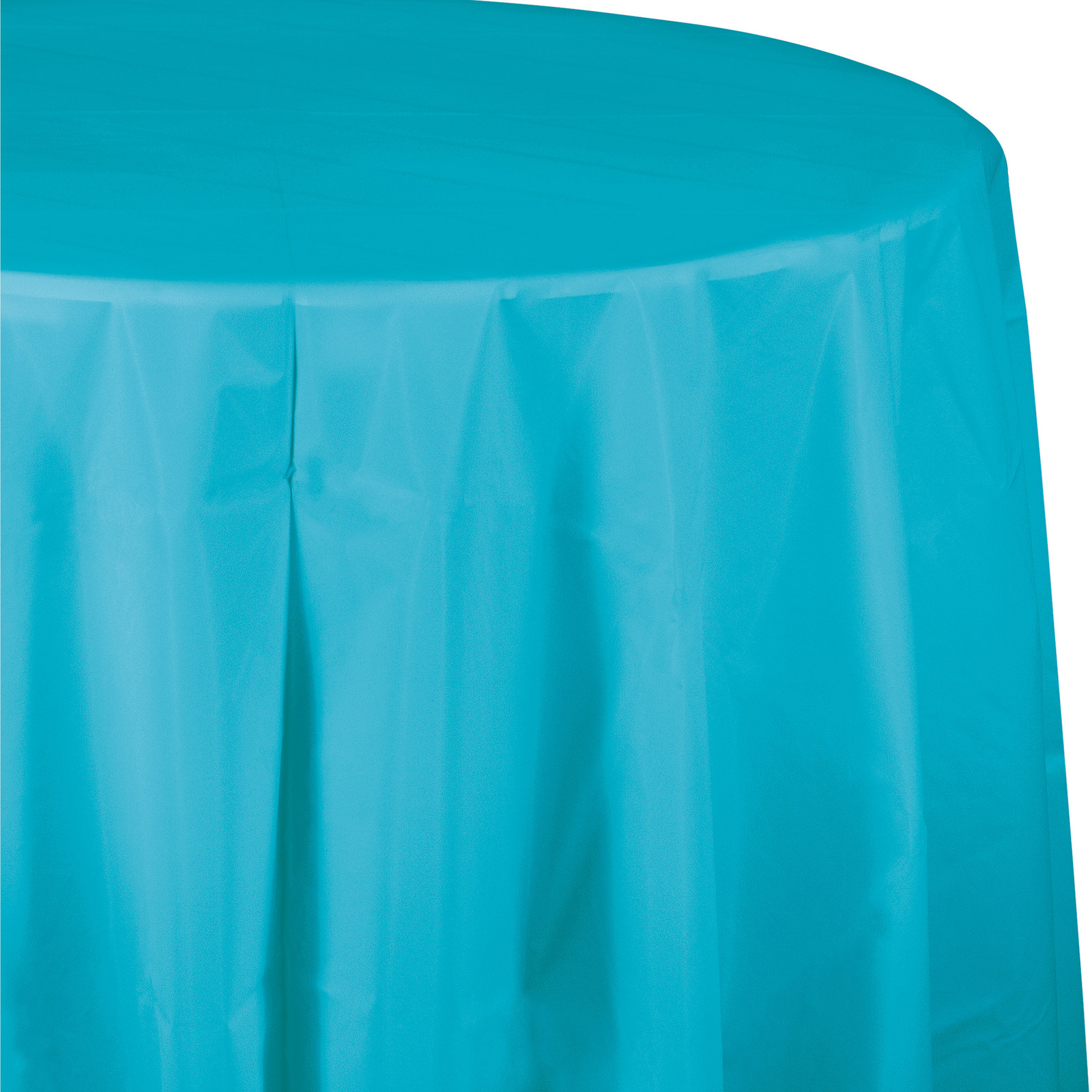 82 inch Plastic OctyRound Tablecover Bermuda Blue/Case of 12
