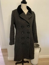 I Spiewak and Sons Size L Peacoat Striped Casual Outdoors Wool Winter Long - $138.60