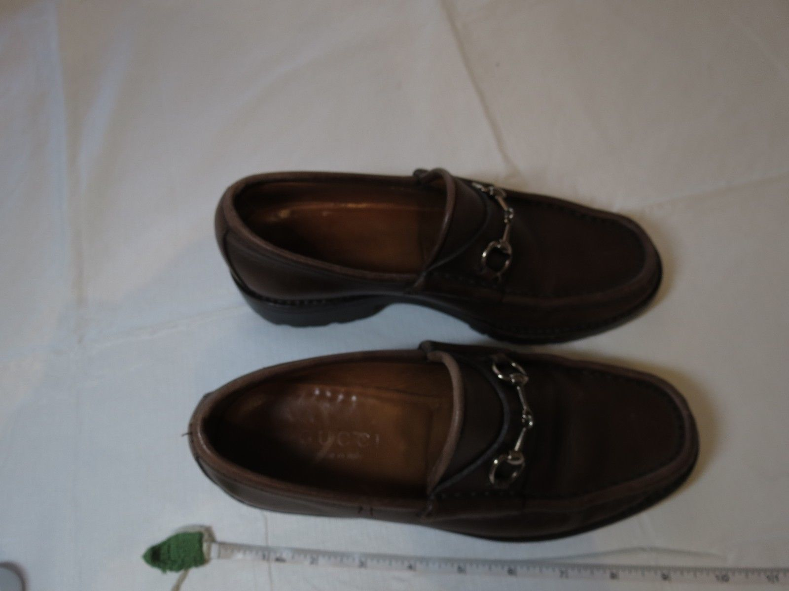 a70333c063307 Gucci shoes leather 6 1 2 B loafers horsebit brown vintage 014875 Italy  vintage