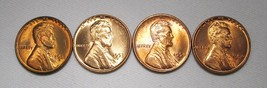 1950-P&D, 1953-D&S Lincoln Wheat Cents (4 Coins) Lot AE980 - $21.22