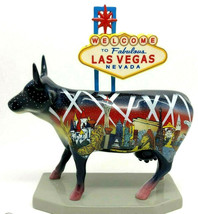 Cow Parade 7326 LAS VEGAS Numbered Ceramic Collectible Figurine Famous R... - $38.00