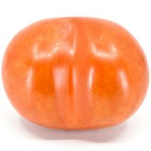 """Vaneal Group Hand Carved Soapstone 2-Sided """"Imagine"""" Orange Heart Paperweight image 3"""