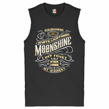 I Get Friskey When I Drink My Whiskey Muscle Shirt Genuine Moonshine Men's - $14.38+