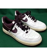 Nike Air Force 1 Womens Low Top Sneakers 7.5 Metallic Summit White 31876... - $30.02