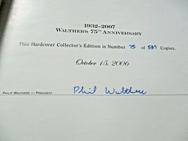 Walthers # 913-2470 2007 75th Anniversary Hard Cover # 75 of 537 Catalog N & Z image 3
