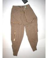 New Womens Designer Pants Italy 40 4 Brown Viscose Gaetano Navarra Jogge... - $465.00