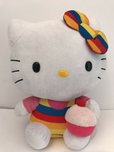 "TY HELLO KITTY RAINBOW CUPCAKE PLUSH 12"" Beanie Baby Buddy Sanrio Gay Pr... - $5.00"