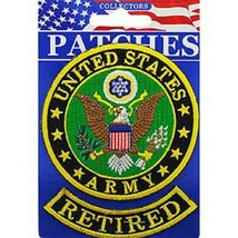 United States Army Retired Military Patch With Tab - $11.87