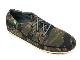 Sanuk Men Cassius Camo Tiger Camo Army Lace Up Boat Shoe Loafers SMF10520L - $39.99