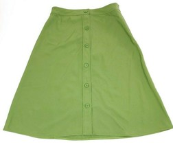 Everlane Japanese GoWeave Swing Skirt Button Front Green Size 6 - $49.95